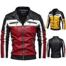 Plüsch Lederjacke Herrenjacke Jugend Motorrad Kleidung Mantel abgestimmte Retro+