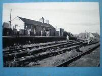 PHOTO  LNER AMBLE RAILWAY STATION IN 1964