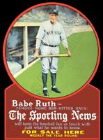 Babe Ruth Sporting News Die Cut Store Counter Standup Sign New York Yankees