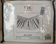 Vhc Queen-Size 100% Cotton Bed Skirt, Black & Yellow Square Pattern