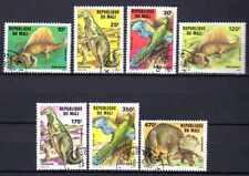 Animaux Préhistoriques Mali (16) série complète 7 timbres oblitérés