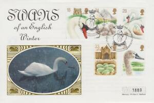 **  MERCURY SILK COVER ABBOTSBURY SWANNERY FIRST DAY COVER JANUARY 19TH 1993 **