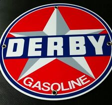 Derby Gas Oil gasoline sign . Free shipping on any 8 signs