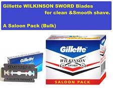 Lot Of 100 Blades Gillette Wilkinson Blades Double Edge Saloon Pack For Men Bulk