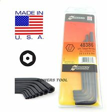 Bondhus Tamper Resistant Security Hex L Wrench Set SAE 3/32-3/8 USA MADE 48332