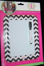 NEW LOCKER LOOKZ MAGNETIC WHITEBOARD FOR SCHOOL LOCKER BLACK & WHITE CHEVRON ZIG