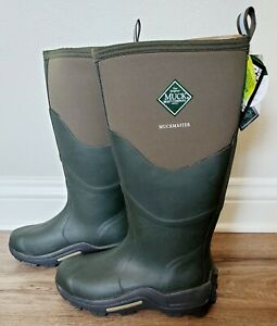 Muck Boots MUCKMASTER HI Unisex Mens Ladies Waterproof Boot Moss Men's 9 Wm's 10