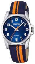 Calypso Kinderuhr by Festina Boys K5707/4 blau orange Textil