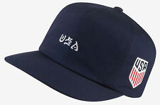 Hurley Men's USA National Team Snapback Hat Cap - Obsidian