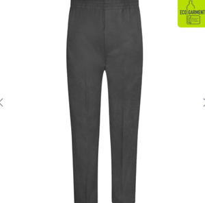 ZECO Full Elastic Pull-Up Trousers School Wear Fully Elasticated Waistband Pants