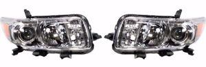 SCION XB X B 2008 2009 2010 LEFT RIGHT HEADLIGHTS HEAD FRONT LAMPS LIGHTS PAIR