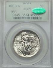 1936 Oregon Trail Commemorative Silver Half Dollar - PCGS Mint State 65 CAC