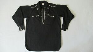 VINTAGE 40'S WESTERN RODEO SHIRT W/ HORSESHOE EMBROIDERY & GUSSETS BY CONQUEROR