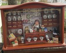 Vintage Reutter Porcelain Hummel Dollhouse Store Display Room Box W Accessories