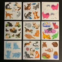 Sandylion Vintage Fuzzy Cat Stickers Kitten Persian Calico Tabbie Hamster