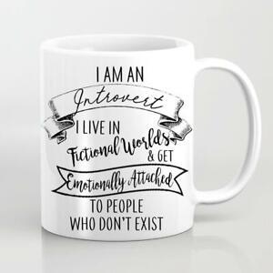 Bookish Mug Introvert Mug Fictional Worlds Emotionally Attached Book Mug Fandom