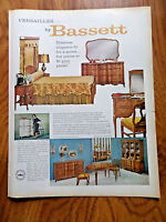 1963 Bassett Furniture Ad The Versailles Collection