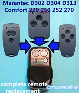 Marantec D304 D313 D302 Comfort 220 250 252 270 Garage Door gate Remote