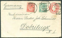 BRITISH SOUTH AFRICA TO GERMANY Postal Stationery + Stamp