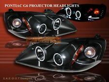 2005-2009 PONTIAC G6 BLACK TWIN CCFL HALO PROJECTOR HEADLIGHTS LED 2006 2007 08