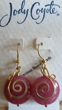 Jody Coyote Earrings JC0726 new semi precious stone Radiance GD675G-01 gold pk 2