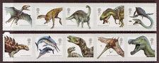 Grande-Bretagne 2013 Dinosaures Ensemble de 10 in 2 adhésif bandes à , MNH