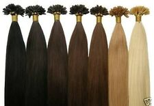 50 100 150 EXTENSIONS POSE A CHAUD CHEVEUX 100% NATURELS REMY HAIR 49CM 0.5G 1G