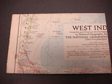1954,National Geographic Map,West Indies,March,Gilbert Grosvenor Ed. S1841