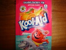10 *RARE* Kool Aid Drink Mix SHARKLEBERRY FIN powdered vitamin c popsicle flavor