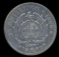 SOUTH AFRICA COIN 2 1/2 SHILLINGS 1895 KEY DATE SILVER KM# 7 AXF