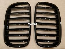PIANO GLOSS BLACK Front Hood Grilles Grille 10-16 FOR BMW F07 GT 535iGT 550iGT