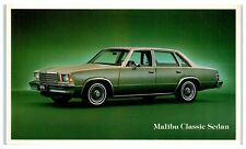 1979 Chevy Malibu Classic Sedan Postcard
