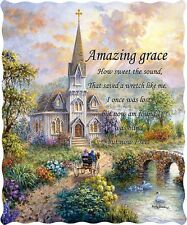 AMAZING GRACE THROW : RELIGIOUS CHURCH BIBLE LICENSED QUILT BLANKET