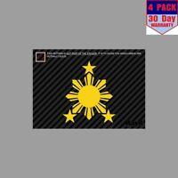 Philippines Sun Stars Filipino 2 4 Stickers 4x4 Inch Sticker Decal