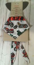 In Dog We Trust motorcycle flames Pet Bandanna scarf Extra Large 80 pounds