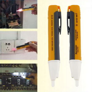 Voltage electricity tester volt mains detector circuit test pen LED torch pocket