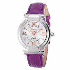 Ladies Girls Analogue Smart Rose Gold Silver Watch Watches Kids Purple Strap UK