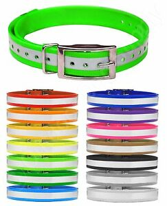 """Reflective Replacement Dog Collar Straps 3/4"""" wide Sportdog Dogtra Petsafe Delta"""