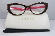 Versace MOD 3223 5148 Havana on Hot Pink New Authentic Eyeglasses 53mm w/Case
