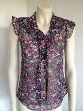 Chiffon Button Down Shirt Machine Washable Floral Tops & Blouses for Women