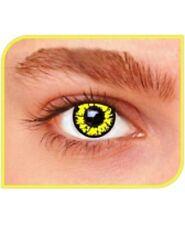 lentilles fantaisie black wolf crazy lens 1 an pour halloween zombie