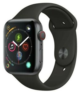 Apple Watch Series 4 44mm GPS Cellular Space Grey Black Sport Band 12 Month WTY