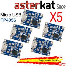 5x Modulo de carga TP4056 para bateria litio 18650 micro usb 5V 1A DIY 5pcs