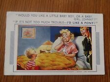 "CPSM ""Would you like a little baby boy, or a baby girl, Johnny ?"" ""If it's not.."