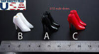 """1/12 scale Ankle Boots Shoes For 6"""" PHICEN TBLeague T01 T03 Female Figure Doll"""