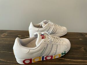 USED Size 8.5 Men's adidas Originals Superstar Olympic Pack Sneakers FY1147