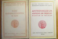 2 x  kleiner Reiseführer Italien  Rom + Antikenmuseum Vatikan 1950/51