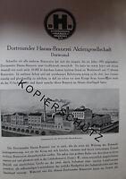Dortmund Hansa Brauerei 8 Seiten Historie von 1926 Werbung Bildbericht Werbung