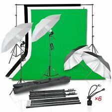 Emart Photo Video Studio 8.5ft x 10ft Backdrop Support System with 1000W Photo..