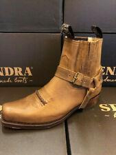 Sendra Boots Cowboystiefel Westernstiefel Motorradstiefel Biker 6445 Braun